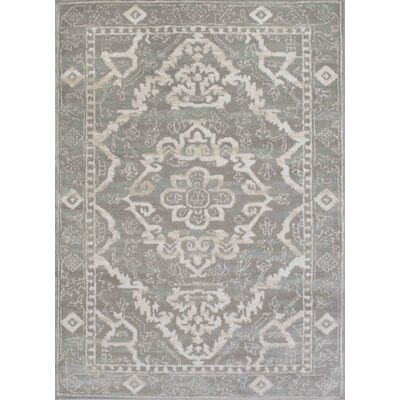 Avery Gray Area Rug Rug Size: 53 x 73