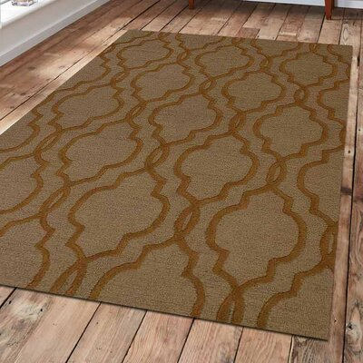 Baxter Springs Hand-Tufted Wool Brown Area Rug Rug Size: 9 x 12