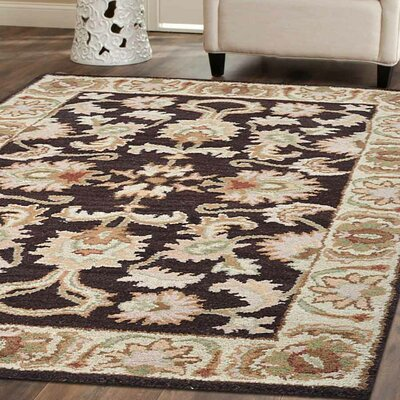 Beachampton Vintage Hand-Tufted Wool Brown/Beige Area Rug Rug Size: 8 x 11