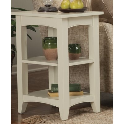 Birch Creek Two Shelf End Table Finish: Ivory