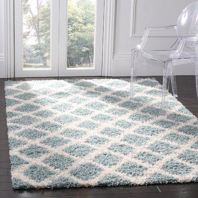 Unadilla Seafoam/Ivory Area Rug Rug Size: Rectangle 51 x 76