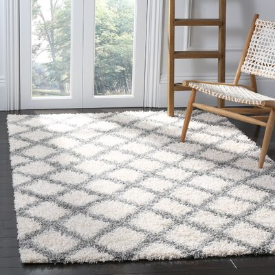 Unadilla Ivory/Gray Area Rug Rug Size: Rectangle 51 x 76