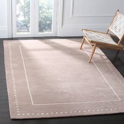 Amundson Hand-Tufted Beige Indoor Area Rug Rug Size: 6 x 9