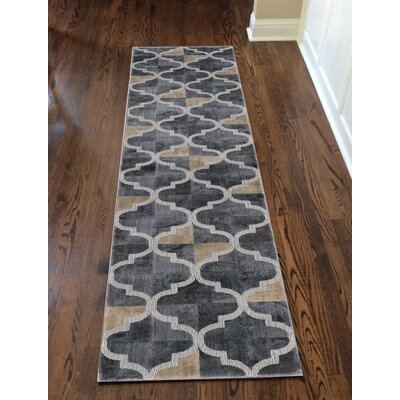 Norwich Gray Area Rug Rug Size: Runner 22 x 77
