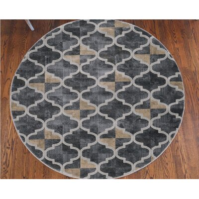 Norwich Gray Area Rug Rug Size: Round 710