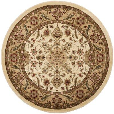 Ottis Cream/Tan Area Rug Rug Size: Round 53