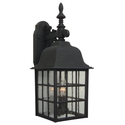 Oakhill 3-Light Outdoor Wall Lantern Finish: Matte black