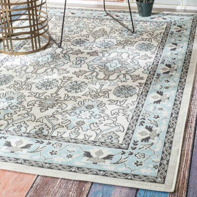 Myona Light Blue Indoor/Outdoor Area Rug Rug Size: 4 x 6