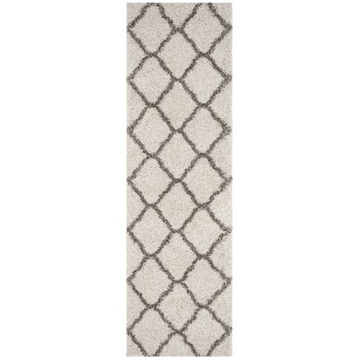 Buford Ivory/Gray Area Rug Rug Size: Runner 23 x 8