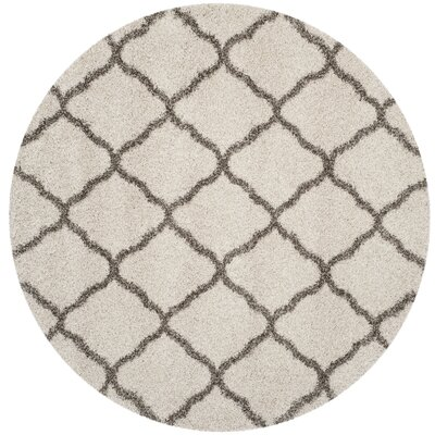 Buford Ivory/Gray Area Rug Rug Size: Round 7