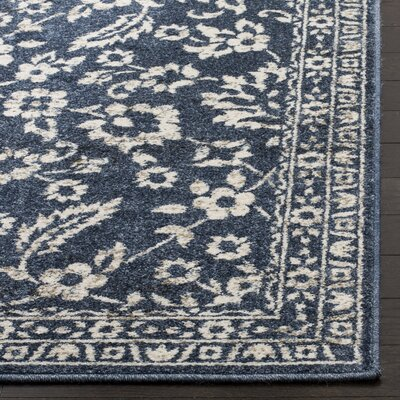 Arthur Blue/Beige Area Rug Rug Size: Rectangle 51 x 76