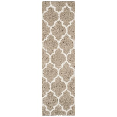 Parnassus Hand-Tufted Silver/Ivory Area Rug Rug Size: Runner 23 x 8