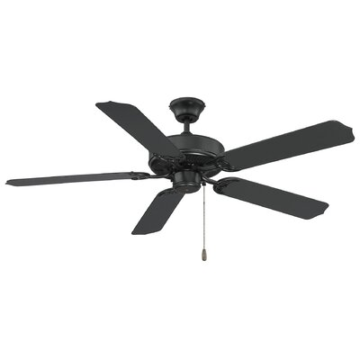 Blomquist 52 Ceiling Fan Motor Finish: Flat Black, Blade Finish: Matte Black