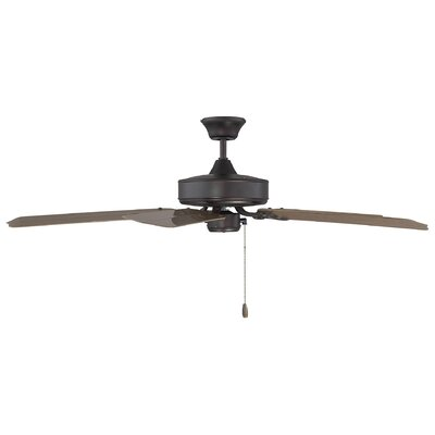 Blomquist 52 Ceiling Fan Motor Finish: English Bronze, Blade Finish: Walnut