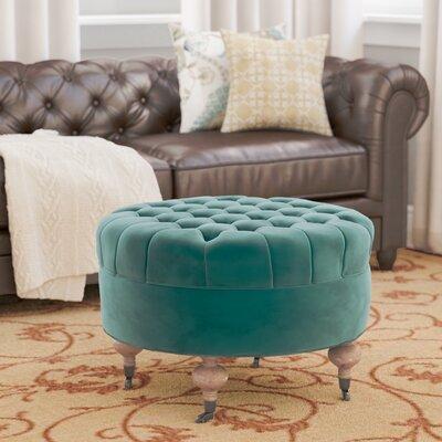 August Ottoman Upholstery: Marine
