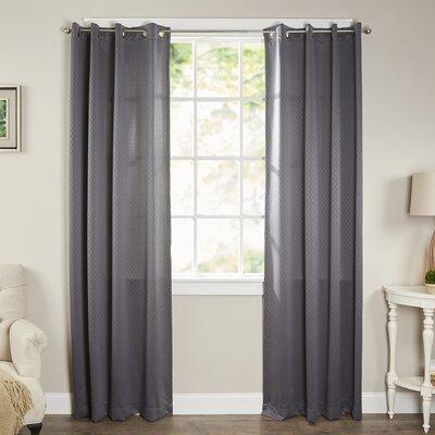 Pheobe Solid Semi-Sheer Grommet Single Curtain Panel