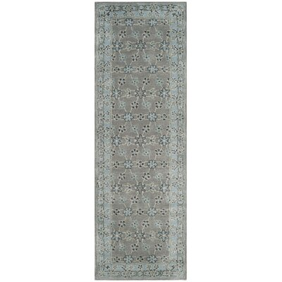 Blassingame Hand-Tufted Gray Area Rug Rug Size: Runner 23 x 7
