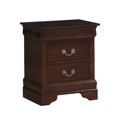Oldbury 2 Drawer Nightstand Finish: Black