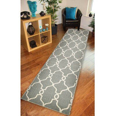 Rowena Woven Gray Area Rug Rug Size: Runner 19 x 69