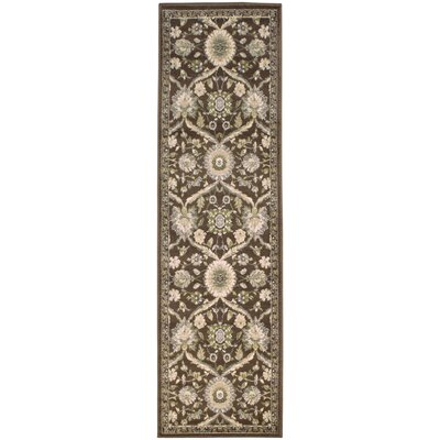 Angelita Brown Area Rug Rug Size: Runner 27 x 8