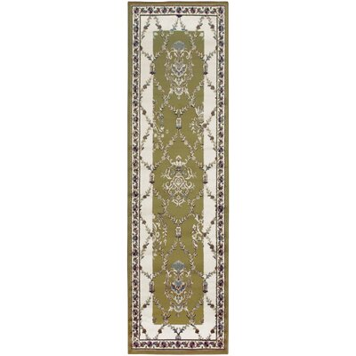 Anselm Olive Green Area Rug Rug Size: Runner 27 x 8