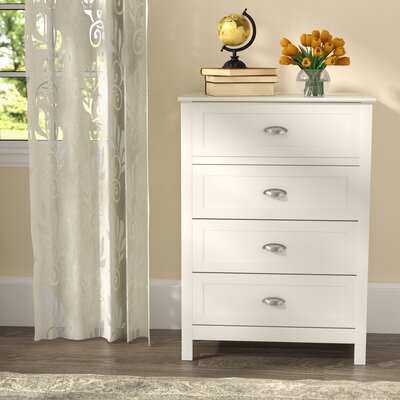 Arias 4 Drawer Chest Color: White