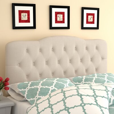 Minneapolis Arch Upholstered Panel Headboard Size: Queen, Upholstery: Ivory