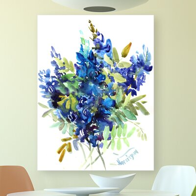 'Flowers' Acrylic Painting Print Format: Poster, Size: 24