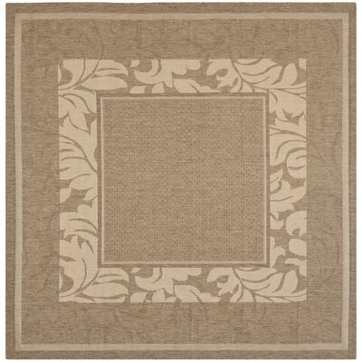Fenmore Brown/Tan Outdoor Area Rug Rug Size: Square 7