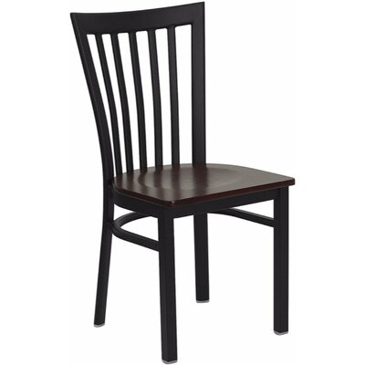 Duprey Metal Side Chair Finish: Mahogany