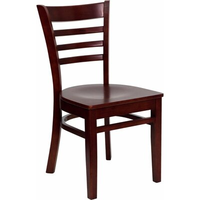Duprey Solid Wood Dining Chair with Ladder Back Finish: Mahogany