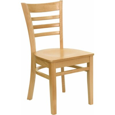 Duprey Solid Wood Dining Chair with Ladder Back Finish: Natural