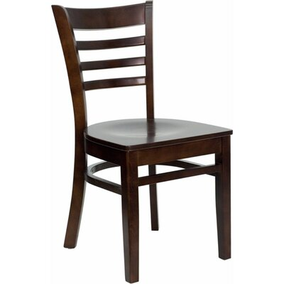 Duprey Solid Wood Dining Chair with Ladder Back Finish: Walnut