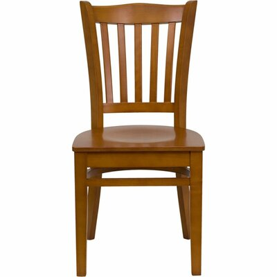 Duprey Solid Wood Dining Chair Finish: Cherry