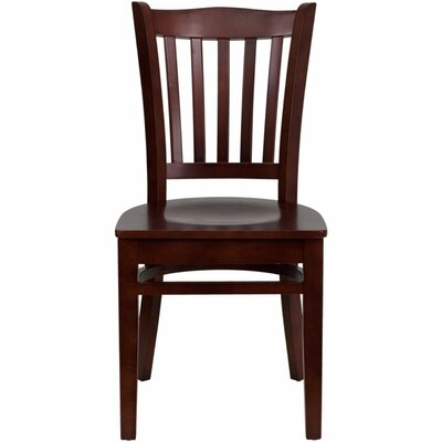 Duprey Solid Wood Dining Chair Finish: Mahogany