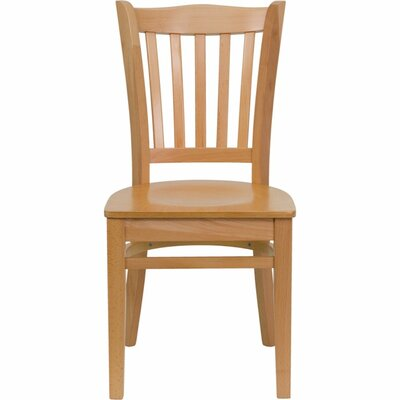 Duprey Solid Wood Dining Chair Finish: Natural