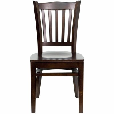 Duprey Solid Wood Dining Chair Finish: Walnut