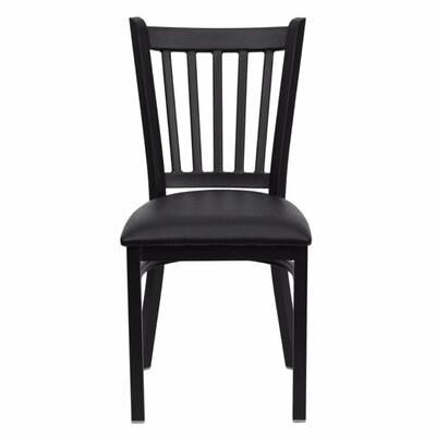 Duprey Side Chair Upholstery: Black
