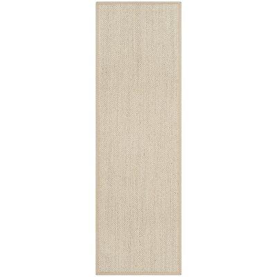 Monadnock Marble / Linen Area Rug Rug Size: Runner 26 x 12