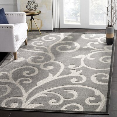 Bryan Gray Indoor/Outdoor Area Rug Rug Size: Rectangle 8 x 112
