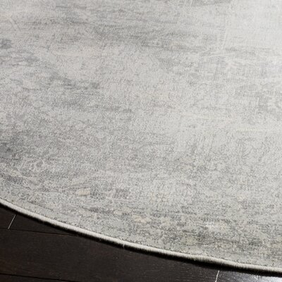 Frith Silver Area Rug Rug Size: Round 6