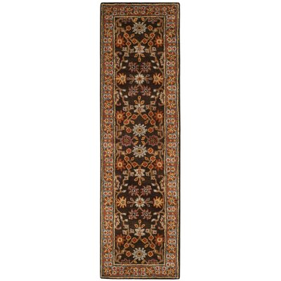 Cranmore Hand-Tufted Brown/Beige Area Rug Rug Size: Runner 23 x 8