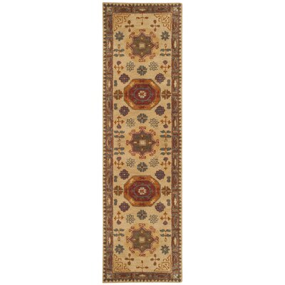 Cranmore Hand-Tufted Beige/Brown Area Rug Rug Size: Runner 23 x 8