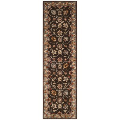 Cranmore Hand-Tufted Charcoal/Blue Area Rug Rug Size: Runner 23 x 8