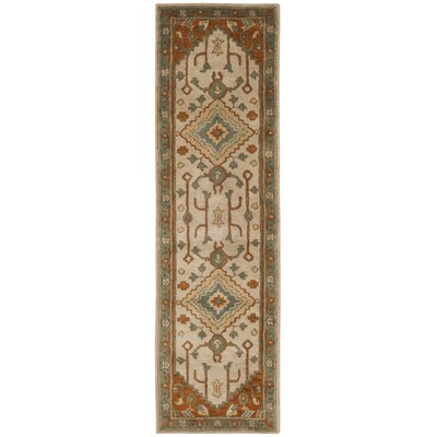 Cranmore Hand-Tufted Gray/Beige Area Rug Rug Size: Runner 23 x 8