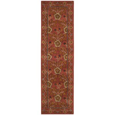 Cranmore Hand-Tufted Red/Orange Area Rug Rug Size: Runner 23 x 8
