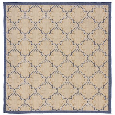 Brasstown Delicate Scroll Beige Indoor/Outdoor Area Rug Rug Size: Square 710