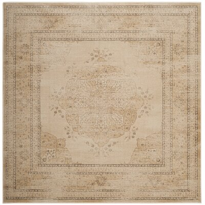 Frith Creme Area Rug Rug Size: Square 6