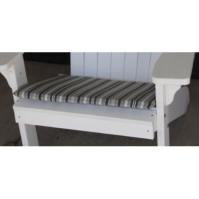 Striped Outdoor Adirondack Chair Cushion Color: Gray