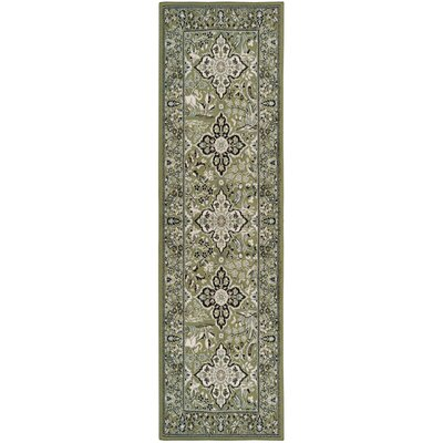 Centerburg Superior Green Area Rug Rug Size: Runner 27 x 8